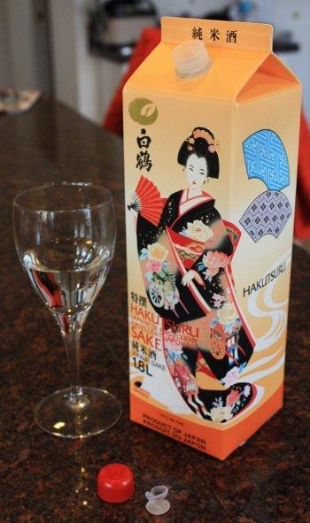 A carton of Hakutsuru Junmai